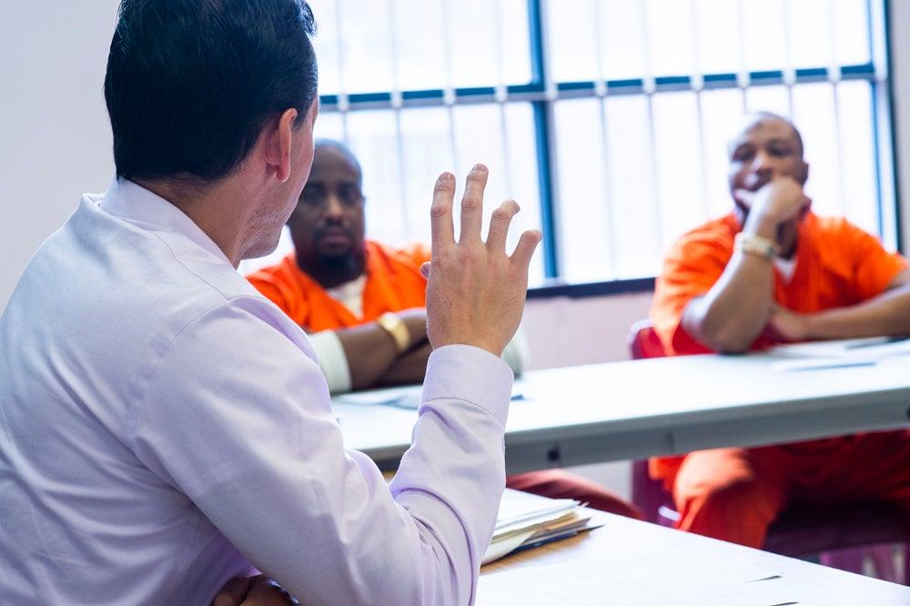 Marc Howard teaches at the D.C. Jail.